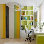 绿色清新书房书柜