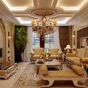 欧式豪华的客厅