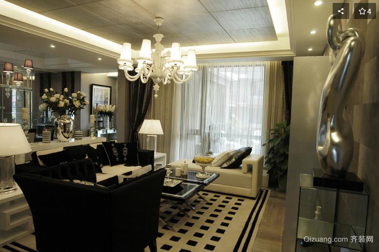 100平米古典优雅家居客厅装修效果图