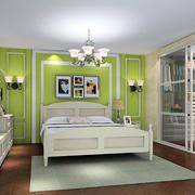 绿色时尚的卧室装潢