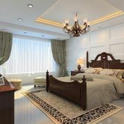 美式风格卧室图