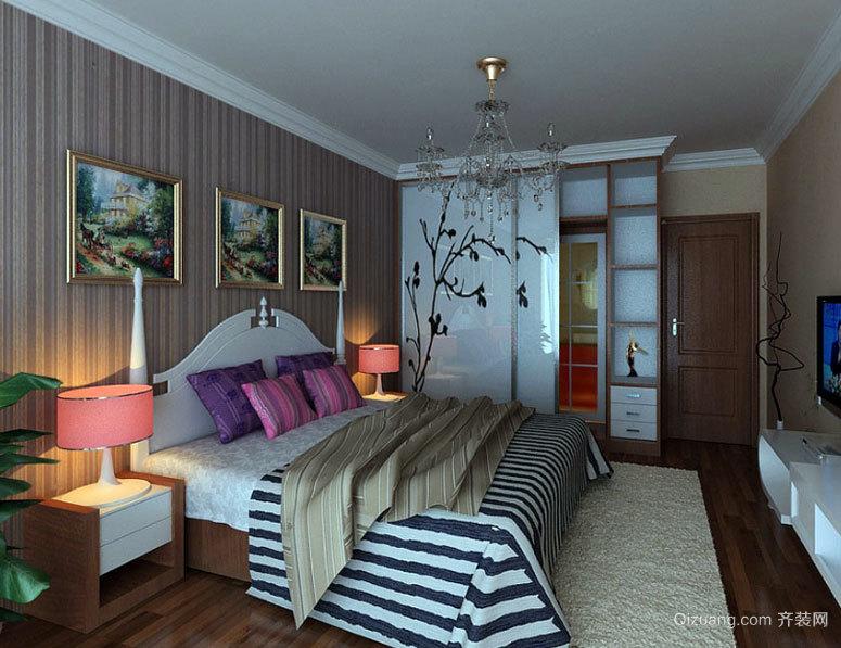 两室一厅个性化混搭风格卧室装修效果图