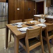 公寓餐厅木质餐桌椅