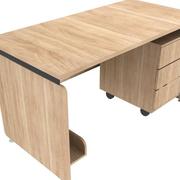 原木色的简约办公桌