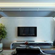白色海藻泥电视背景墙