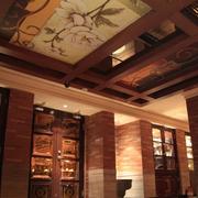 中式风格酒吧吊顶展示