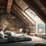 阁楼卧室天窗图