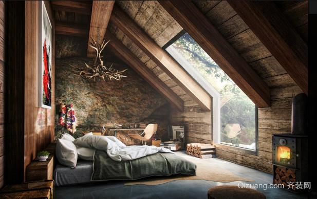 30平米混搭森林系风格卧室装修效果图