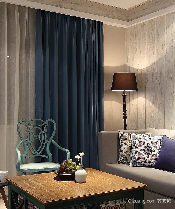 令人凝神静气的蓝色混搭风格家居装修效果图