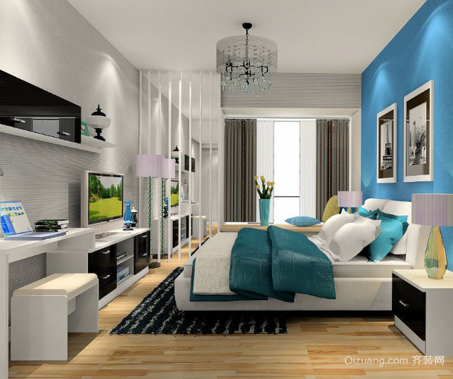 2015全新现代简约主义卧室装修效果图