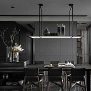 家居餐厅黑色餐桌椅设计