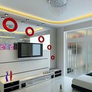 现代时尚的客厅背景墙