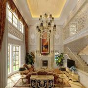 别墅客厅简欧风格吊顶