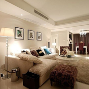 温暖舒适的大户型客厅