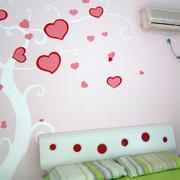 卧室花样粉色背景墙