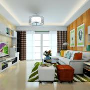 白色简约的客厅图