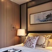 卧室山水画装饰图