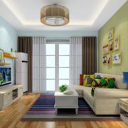 客厅舒适沙发展示
