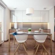 公寓简洁的餐厅欣赏