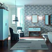 卫生间彩砖背景墙