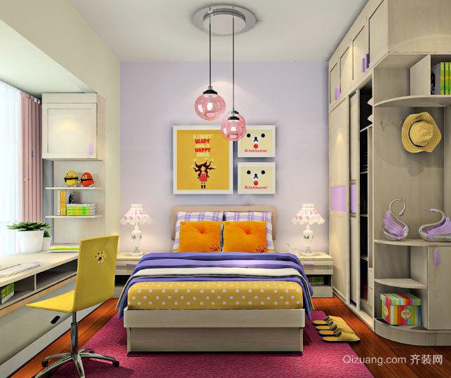专为青少年设计的清新简约风格卧室装修效果图