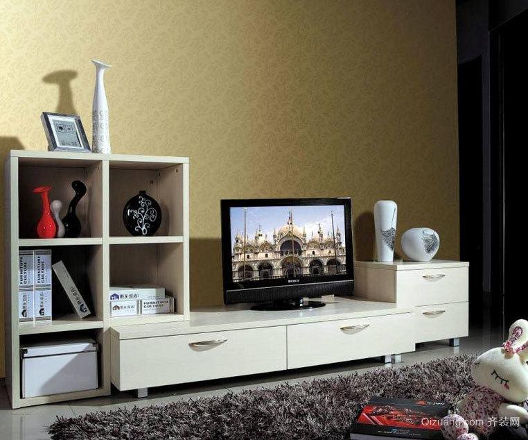 单身公寓时尚大方的欧式客厅电视柜装修效果图大全