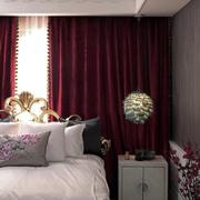 家居卧室窗帘展示