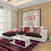 洋溢着爱意的客厅地毯