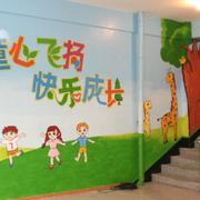 童心飞扬的壁画图片