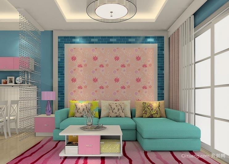 除去寒冷的家用客厅地毯装修效果图