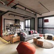 公寓客厅工业风设计