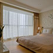 家居卧室大窗帘图