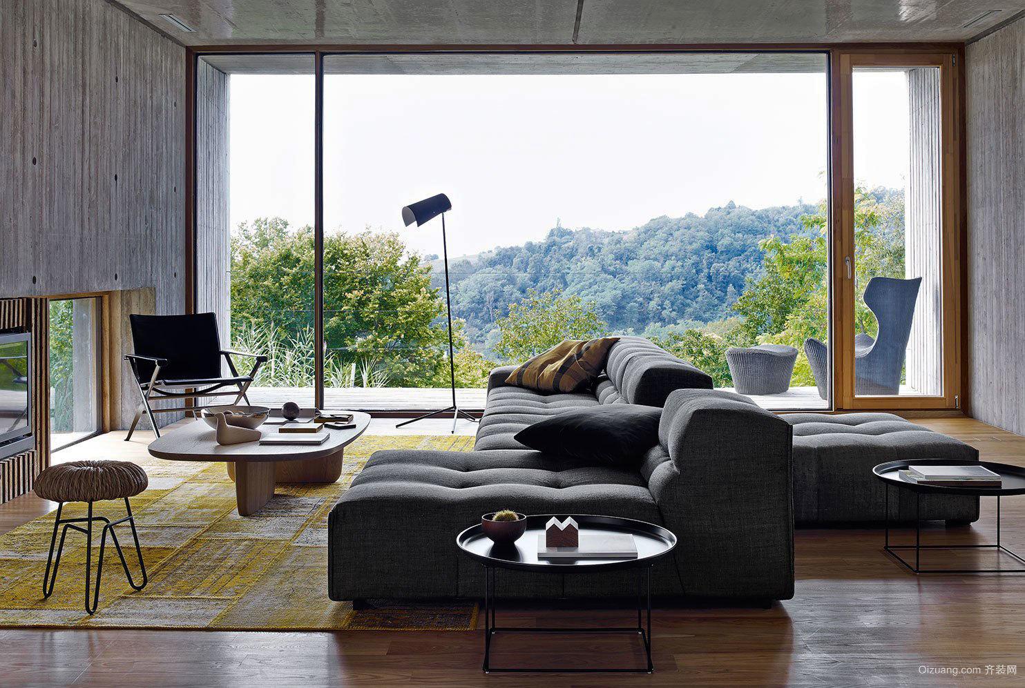 后现代主义深色系列别墅阳光房装修效果图