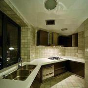 开放式转角大厨房厨柜