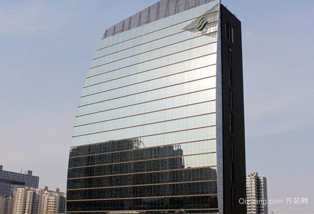 2015现代都市大型隐框玻璃幕墙装修效果图大全