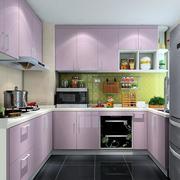厨房紫色橱柜展示