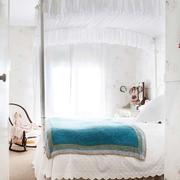 白色卧室床幔展示