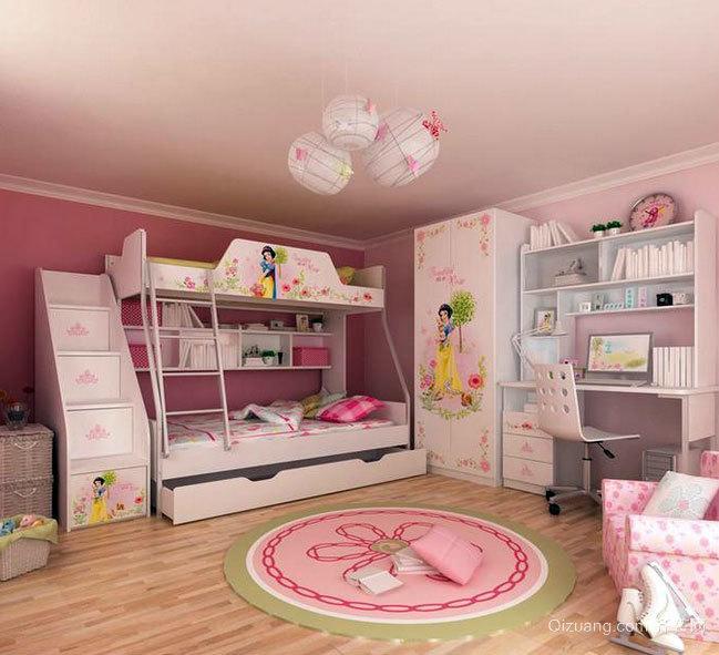 2015天堂般的现代儿童房高低床装修效果图