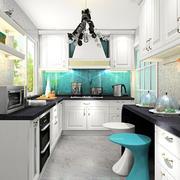 现代流行的精致厨房