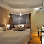 现代时尚的卧室图片