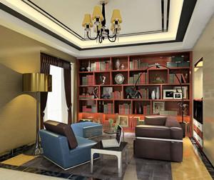 颇受中年人喜爱的欧式古典书房装修效果图