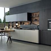 家居深色系的厨房橱柜