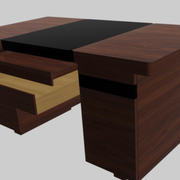 红木昂贵的办公桌