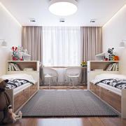 公寓儿童房床摆放