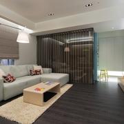 家居客厅黑色地板