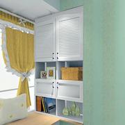 飘窗白色小书柜展示