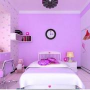 粉紫色女孩子房间壁纸