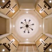 别墅客厅8边型时尚吊顶