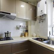 咖啡色厨房橱柜图片