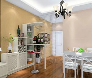 餐厅小型的酒柜吧台